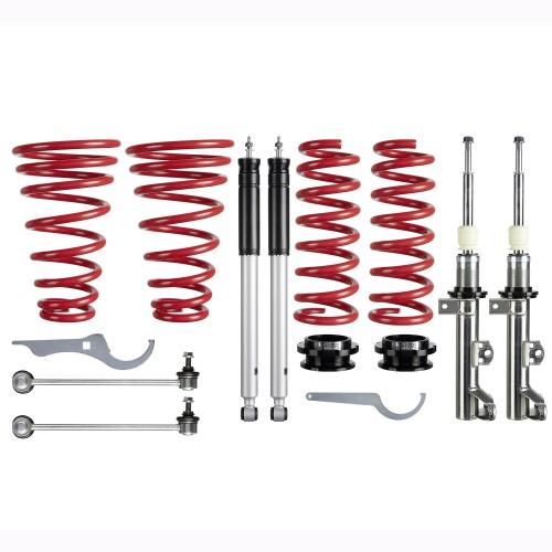 RedLine Coilover Kit suitable for Mercedes C- Klasse (W203) Limo C180/ C200/ C220/ C230/ C240/ C270/ C280/ C320, 00-07, Coupe (CL203) C160/ C180/ C200/ C220/ C230/ C320/ C350, T-Model C180/ C200/ C220/ C230/ C240/ C270/ C280/ C320/ C350