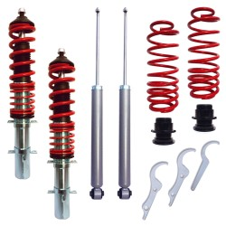 RedLine Coilover Kit suitable for Audi A3 (8L) 1.6, 1.8, 1.8T, 1,9 TDi, except vehicles with four-wheel drive